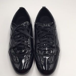 BURBERRY PATENT LEATHER SNEAKERS. SIZE 38